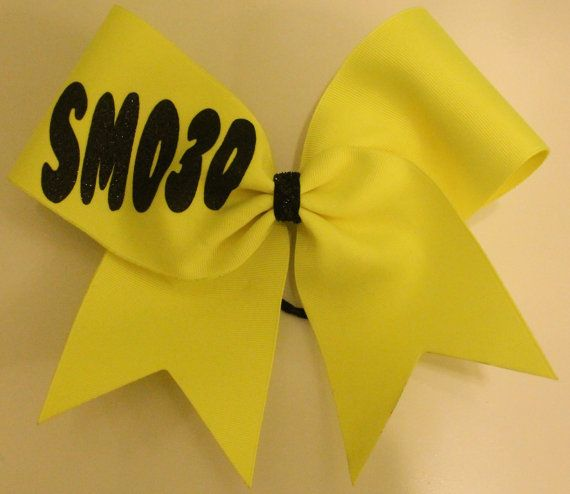 Neon Yellow Cheer Bow June 2017