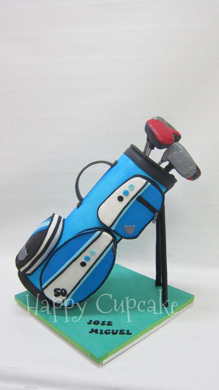 Tarta Bolsa de golf Golf bag cake