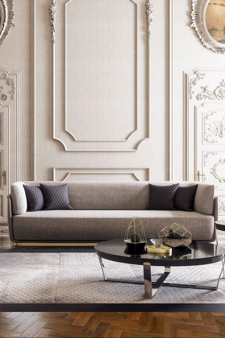 Contemporary Designer Italian Quilted Nubuck Sofa | Interior ...