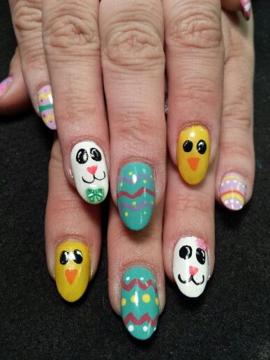 Easter Nail Art: Flowers, Themed Nail Chicks and Bunnies