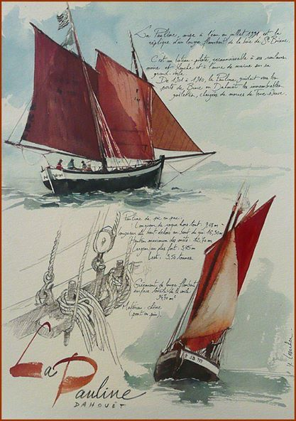 La Pauline - YAL - Yann Lesacher Watercolor-CLP66