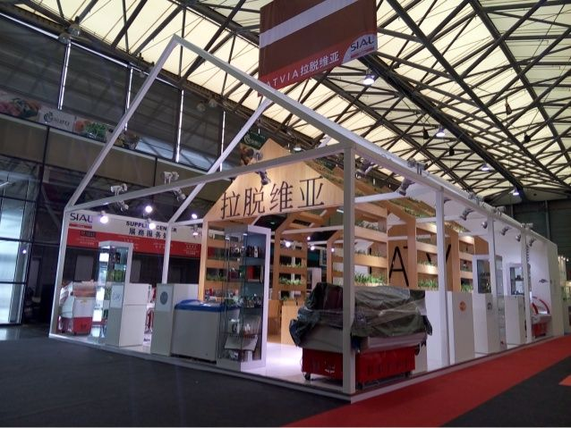 Latvia country pavilion @sial china 2015 stand builder YiMu Exhibition Services markye@lierjia.cn by YiMu Exhibition Services Co.,Ltd. via slideshare