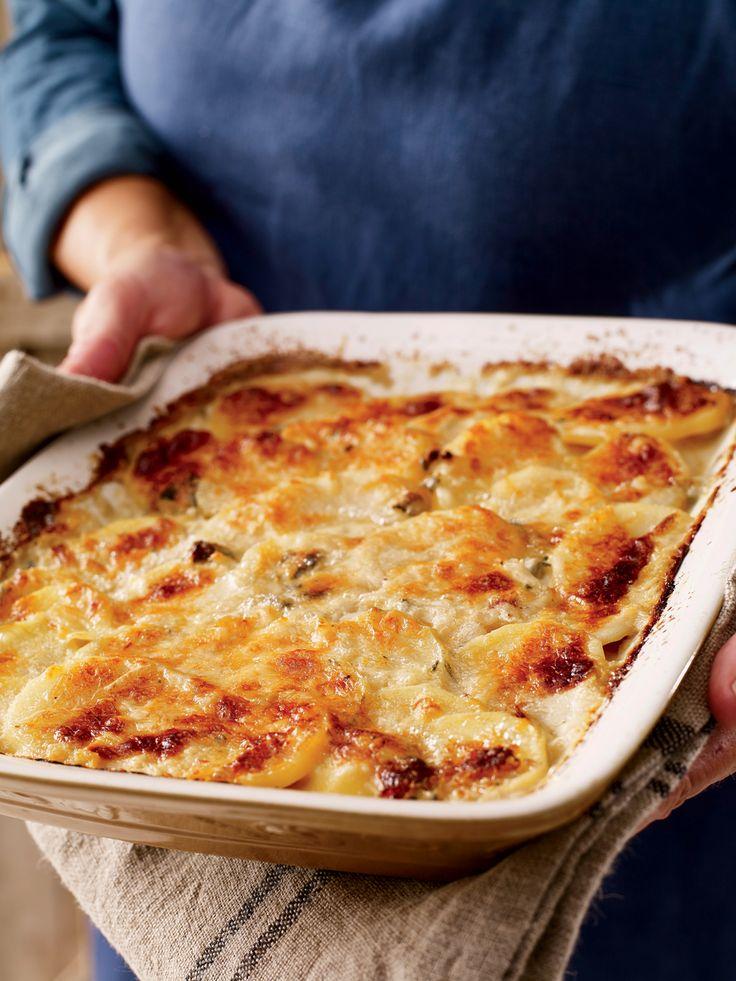 Buttermilk–Blue Cheese Potato au Gratin Recipe - Yankee Magazine