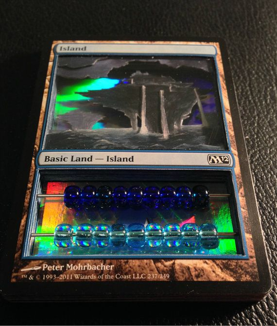Magic the gathering 3d customized life by alaskannerderysupply geek swag pinterest - Magic the gathering game table ...