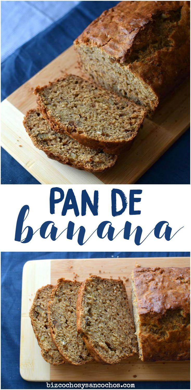 Rico pan o bizcocho de banana con ron y especias; aprovecha las banana mas maduras para mejor resultado. Easy banana rum bread