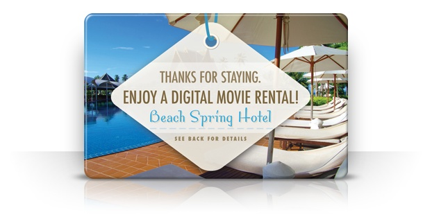 Free streaming music and movies make fantastic thank you gifts for clients and brand advocates.  Recipients receive a full color download card with a unique code to redeem their music, book or streaming movie.
