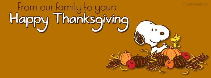 Facebook Cover Snoopy Woodstock Happy Thanksgiving CoverLayout.com