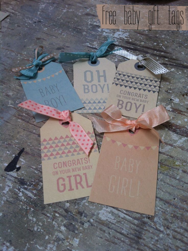 FREE printable baby gift tags :   shabby loves chic