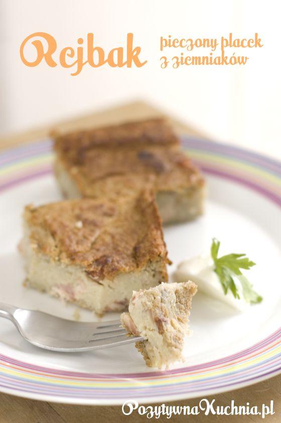 #przepis na rejbak, znany też jako kugiel czyli babka ziemniaczana  http://pozytywnakuchnia.pl/rejbak/  #ziemniaki #obiad #przekaski #kuchnia