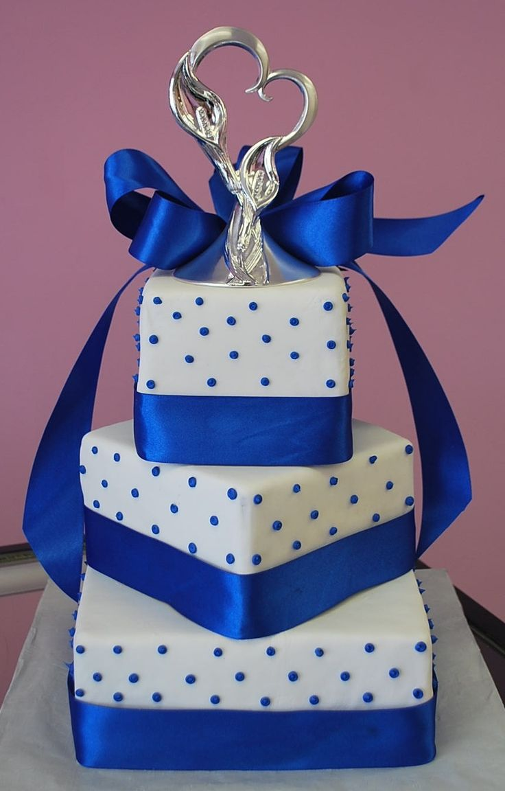 Royal Blue Cake Design : Pinterest: Discover and save creative ideas