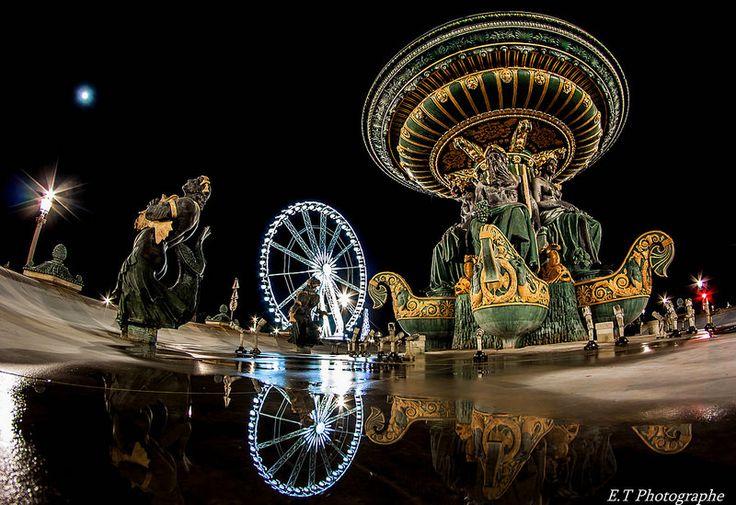 Paris reflet dans la fontaine