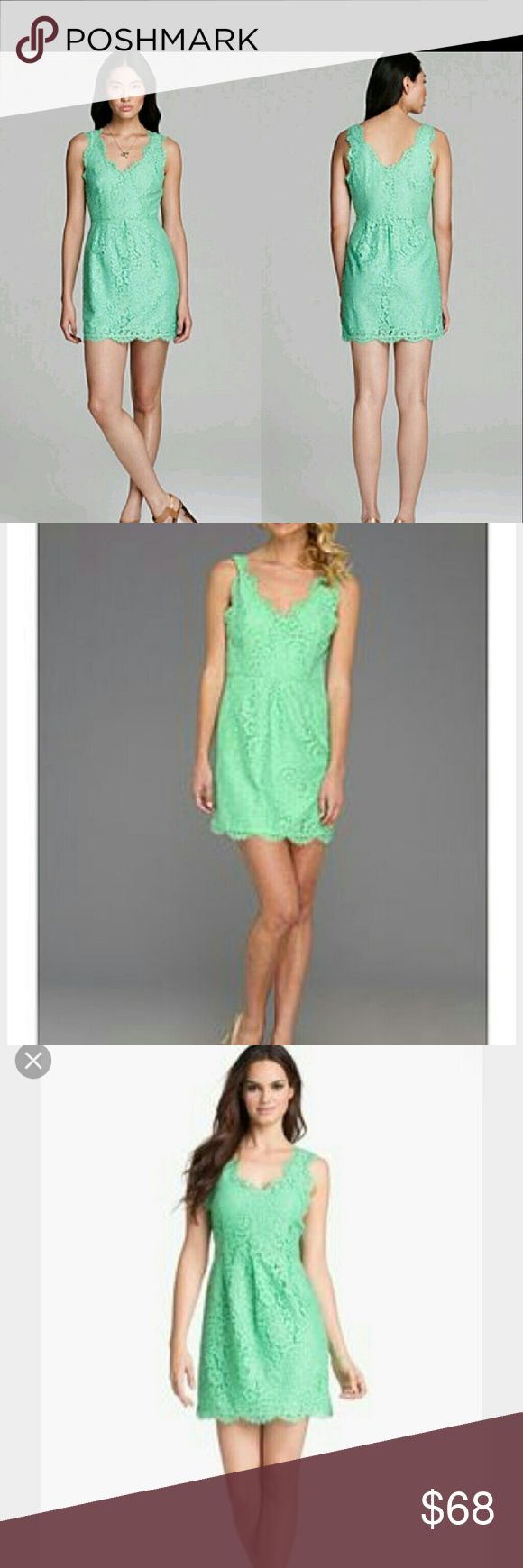 Joie Green rori lace dress xs Worn once in like new condition Joie Dresses Mini