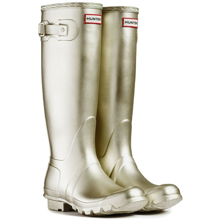Light Gold Original Tall Metalic Wellington Boots