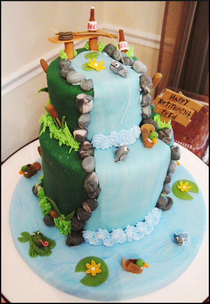 Best 20 fishing cakes ideas on pinterest fishing for Fishing cake decorations