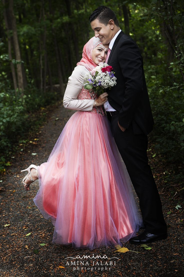 Engagement wedding dress hijab love handsome groom lovely bride islam