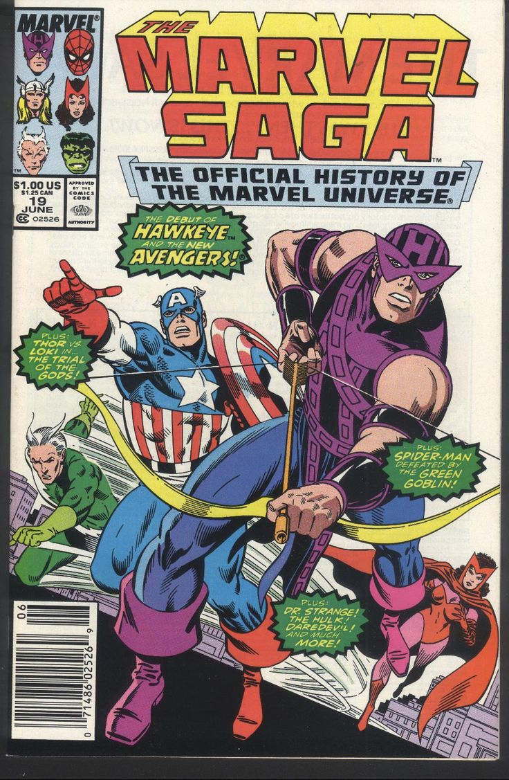 The Marvel Saga #19, June 1987, cover by Keith Pollard and John Beatty
