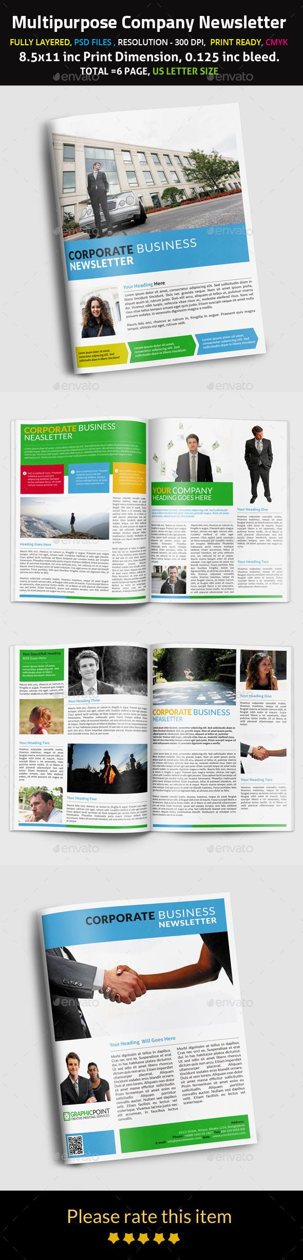 115 best images about Print Newsletter Templates on Pinterest