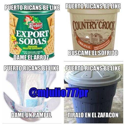 Puertoricans be like...