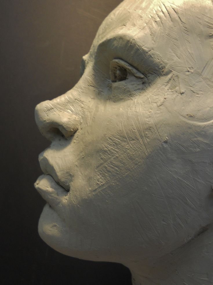 face...sculpted with chopstick