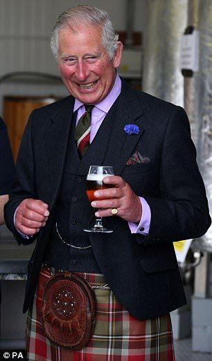 Prince Charles samples ale at the John O'Groats Brewery | Daily Mail Online