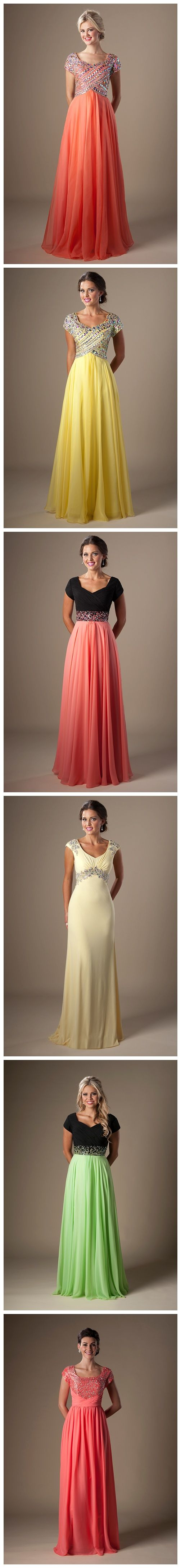 Modest prom dresses. Pastel prom dresses. Prom fashion. Prom 2015. Prom dress ideas.