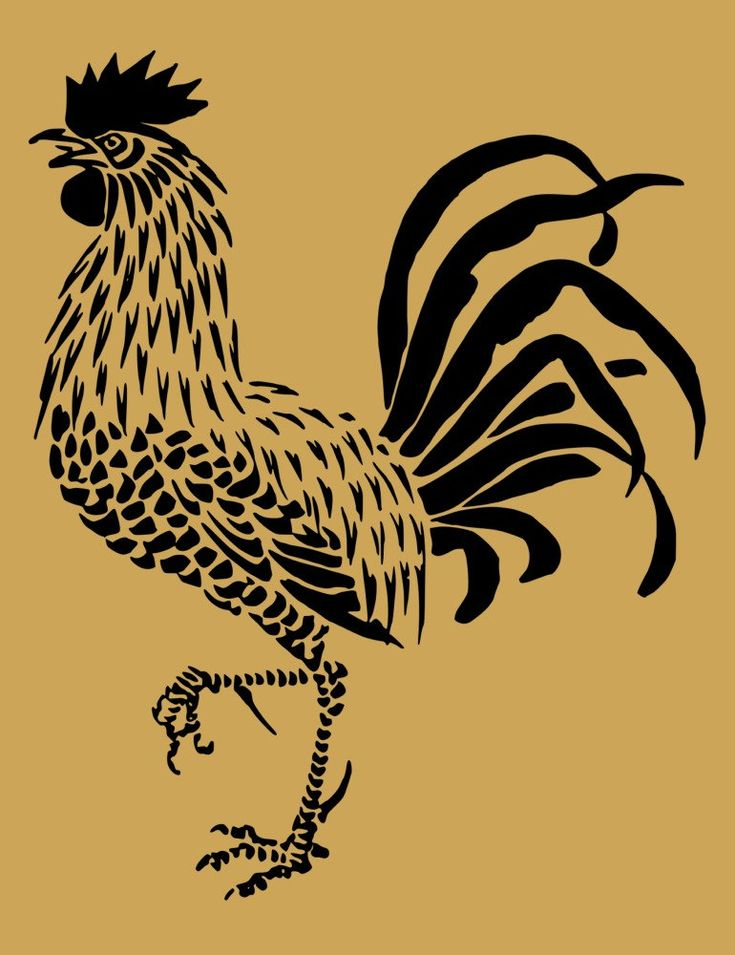 Rooster Stencil No 2 10 x 9 Inch by ArtisticStencils on Etsy