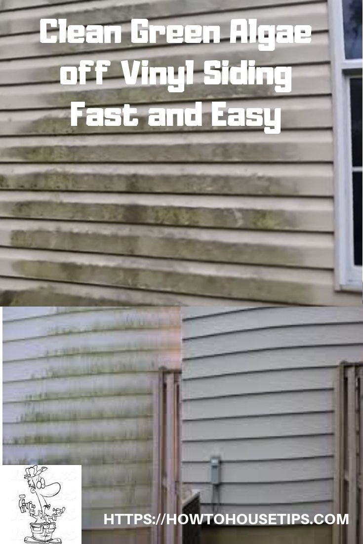 Clean Green Algae Off Vinyl Siding Fast And Easy Cleaning Vinyl Siding Vinyl Siding Vinyl Siding House