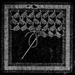 Irish Lace - Chapter XIII - Encyclopedia of Needlework, Irish lace materials, Irish lace patterns, tacking down the braids, bars of different kinds, Insertion stitches