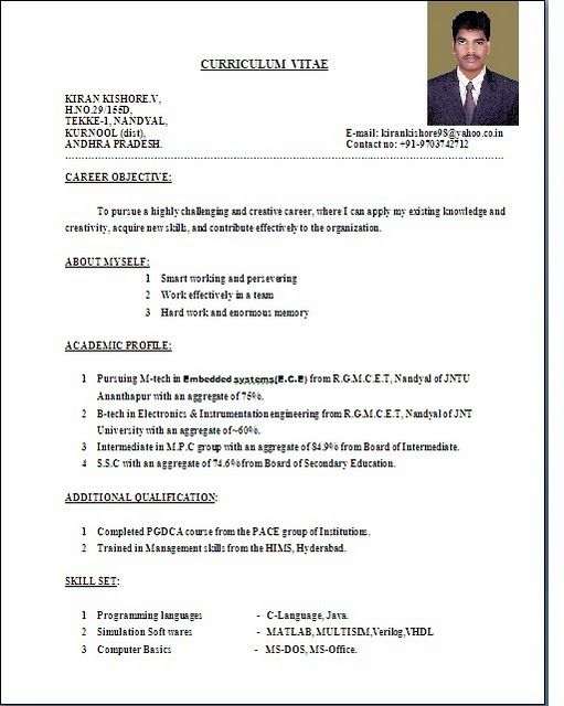 The 25+ best Standard resume format ideas on Pinterest Standard - what is the format of resume
