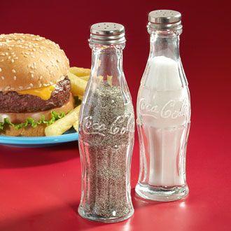 Coke salt and pepper shakers.