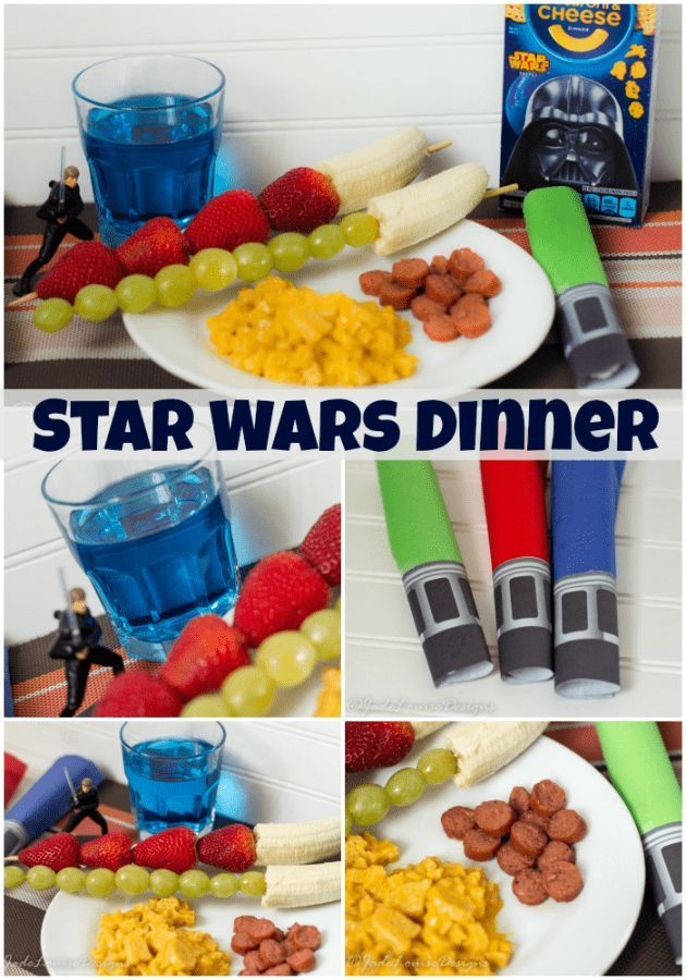 Make National Star Wars Day memorable with a simple Star Wars themed dinner Ideas! With Space Juice, asteroid dogs, fruit sabers and fun lightsaber napkin crafts that the kids can help roll! Also, doubles as the perfect Star wars Party with simple decorations and great food.