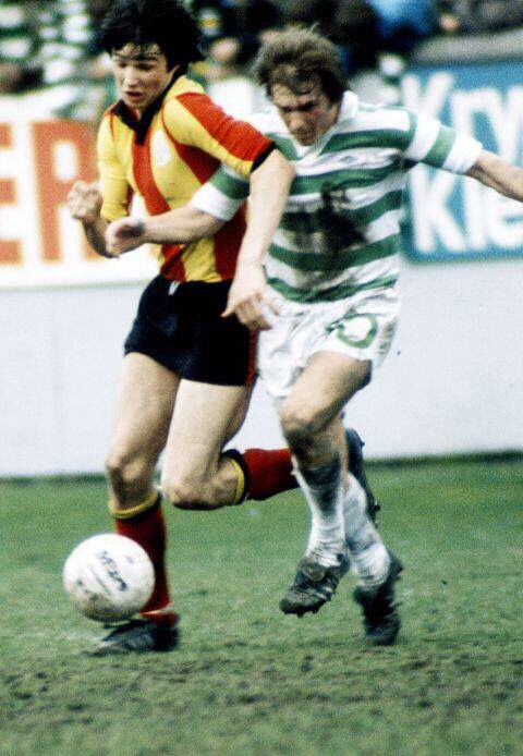 Alan Hansen v Kenny Dalglish. Patrick Thistle v Glasgow Celtic. Both later to join Liverpool FC.