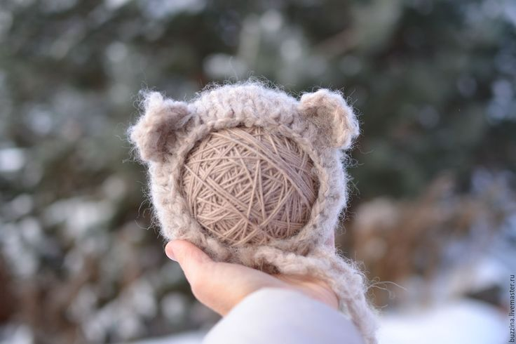 Купить Шапка Медведь для фотосессии новорожденных коричневая - шапочка детская, шапочка для фотосессий, шапочка для новорожденных