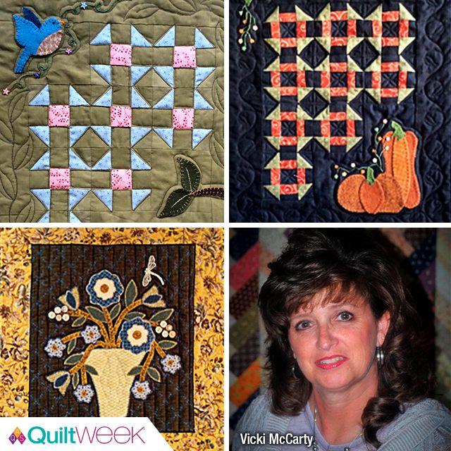 Vicki McCarty teaching at Fall Paducah QuiltWeek® September 16-19, 2017