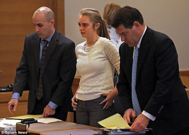 MASSACHUSETTS Michelle Carter accused of encouraging boyfriend to kill himself, will stand trial in March | Daily Mail Online