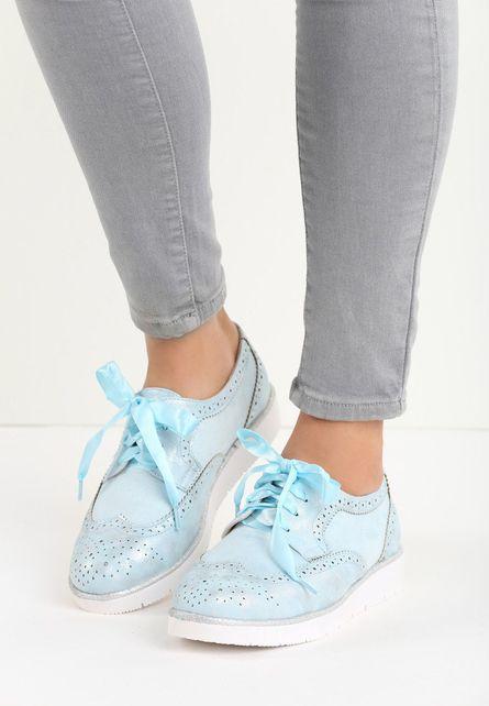Pantofi Oxford Becca Bleu