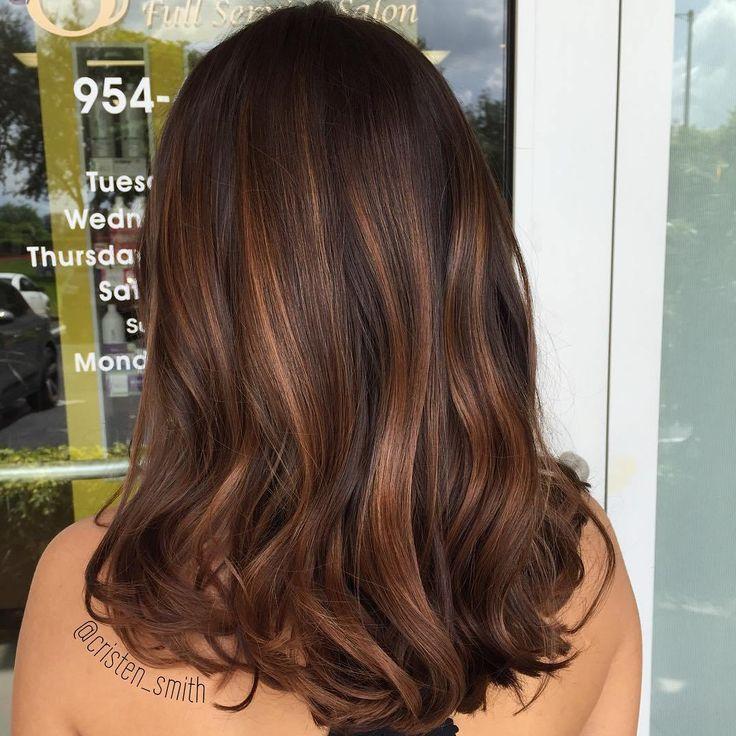 Dark Brown Hair And Caramel Balayage
