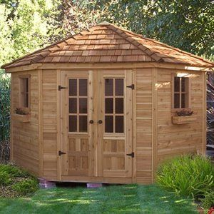 outdoor living today pen99 penthouse 9 x 9 ft garden shed