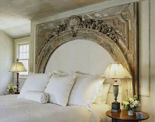 62 DIY Cool Headboard Ideas, pretty but I would fill inside the arch with fabric (same color) headboard , make irt full