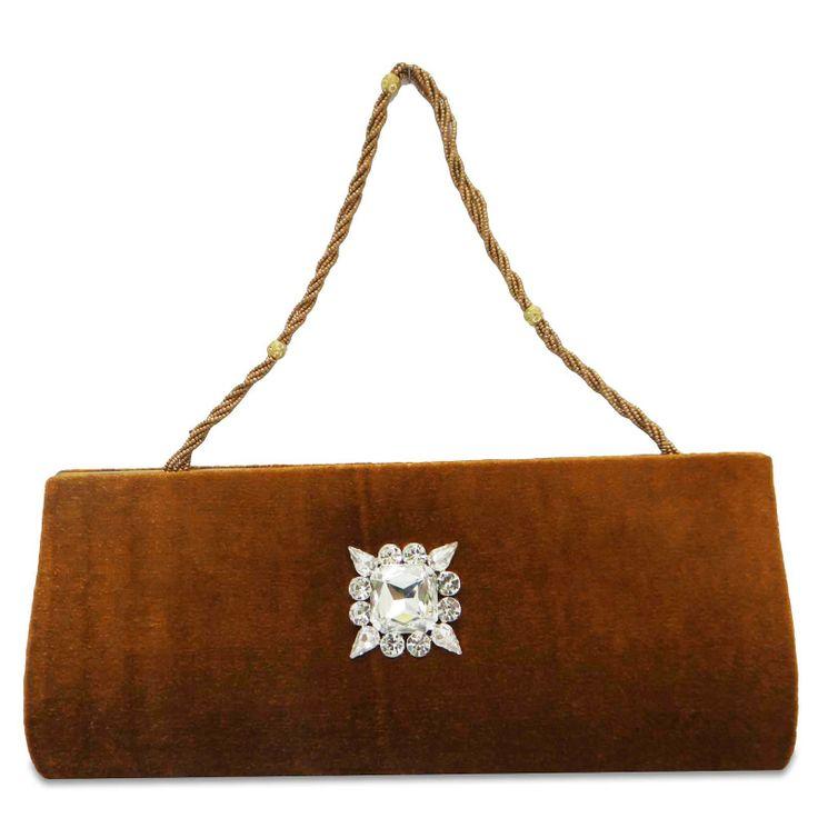 Beautiful Velvet fabric woman clutch purse /handbag. ..this is img
