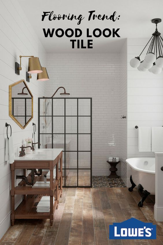 Precision-cut wood look tile planks create the authentic look of real wood.