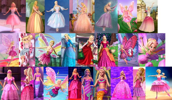 Barbie Movies: 2001 - 2012 by sailormoonhp4life on DeviantArt