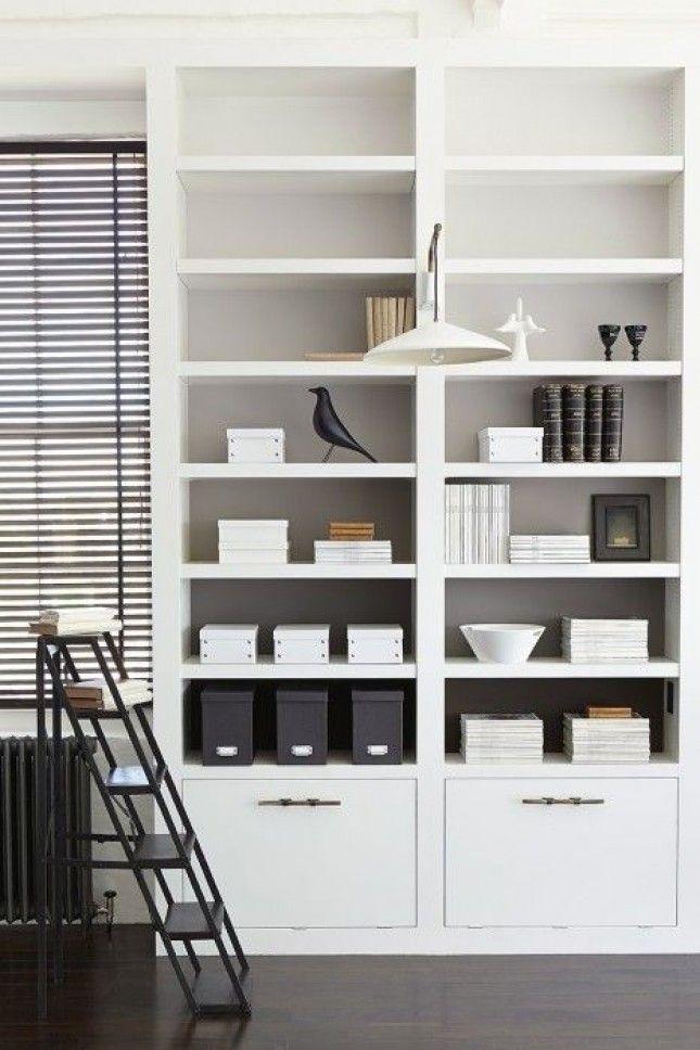 36 Brilliant Ways to Beautify Boring Bookshelves via Brit + Co
