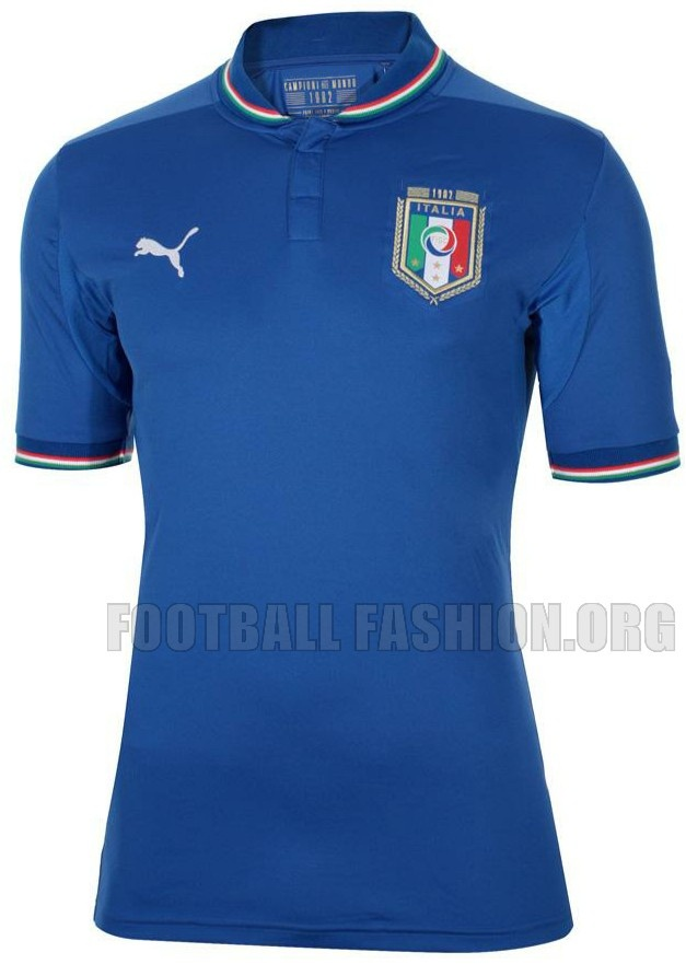 Italy PUMA 1982 World Cup Anniversary Home Soccer Jersey / SKOY!~