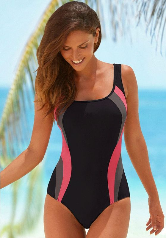 Delightful Womens One Piece Bathing Suits Part - 2: Lascana Sports Professional One Piece Bathing Suit M-XL