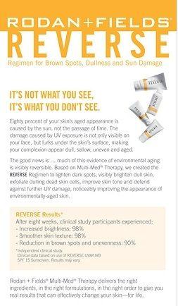#rfskintervention #reverse #beautifulskin Rodan + Fields Dermatologists
