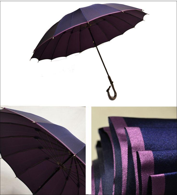 表裏で色の異なる甲州織生地を使用した、レディース傘「かさね」風に強いカーボン製の16本骨。 傘 レディース/雨傘 。「かさね」女性(レディース)/長傘16本骨…