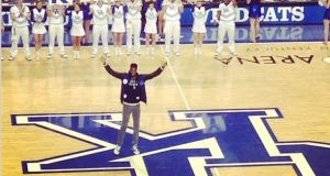 Nerlens Noel showing his love to the Cats!