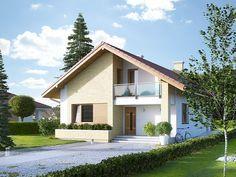 Amarant 2 (123,07m2) to dom z użytkowym poddaszem o prostej bryle z dwuspadowym dachem. Pełna prezentacja projektu znajduje się na stronie: https://www.domywstylu.pl/projekt-domu-amarant_2.php. #projekty #domy #projekt #amarant #domy z poddaszem #projekty gotowe #projekty domów #domywstylu #mtmstyl #home #houses #interiors #wnetrza #design #home design