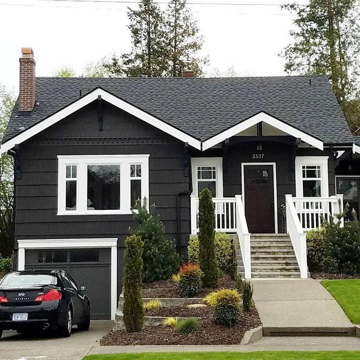 Small Homearchitecture: Dark Exterior Ideas Home Exterior Designs #homeexterior